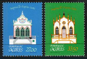 Portugal Azores 334-335, MNH. Chapels of the Holy Ghost, 1982