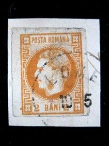 ROMANIA - SCOTT# 33 - USED/ON PIECE - CAT VAL $40.00