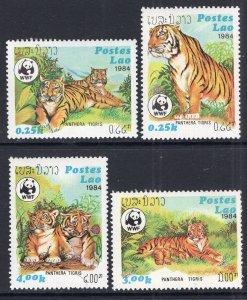 Laos 517-520 Tigers MNH VF