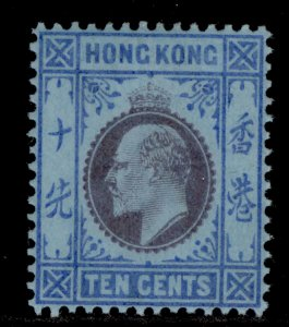 HONG KONG EDVII SG67, 10c purple and blue/blue, LH MINT. Cat £70.