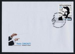 Slovenia 1026 on FDC - Rado Simonitti, Music, Conductor