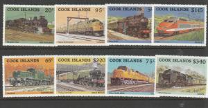 COOK ISLANDS #858-65 MINT NEVER HINGED COMPLETE TRAINS