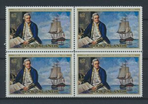[I2261] Cook Is. 1976 Boats good bloc of 4 stamps very fine MNH $60