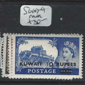 KUWAIT   (P2804B) ON   GB   QEII  CASTLES  SG 107-9  MNH