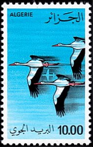 Algeria # C19 mnh ~ 10d Storks and Airplane