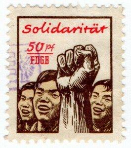 (I.B) East Germany Revenue : FDGB Union Dues 50pf (Fist)