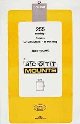 Scott/Prinz Souvenir Sheets & Small Panes Stamp Mount Size: 185x255 #1042 Black
