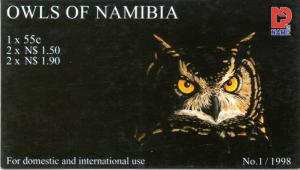 Namibia - 1998 Owls Booklet Cancelled SG SB11