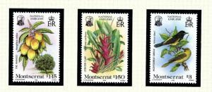 Montserrat 551-53 MNH 1985 National Emblems
