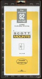 Scott (Prinz) Mounts,82(h) x 240(l), (240x82), Clear- 10 strips.