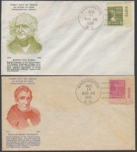 #813 // #827 HOLLAND FDC CACHETS W/ SINGLE PLATE # & BLKS OF 4 CV $208 BS8568