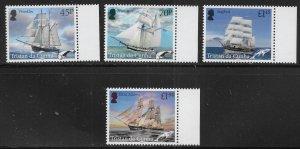 Tristan da Cunha 1169-72 Whaling and Sealing Ships set MNH (lib)