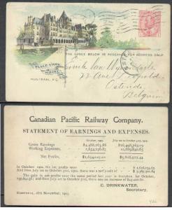 Canada #5147 - 1c Edward - Place Vigor Hotel-(CPR 43B)- b
