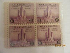 SCOTT 729 3 CENT COUNTRY OF PROGRESS 1933 OG