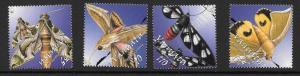 VANUATU SG919/22 2003 MOTHS MNH
