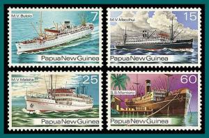 Papua New Guinea 1976 Ships, MNH  425-428,SG279-SG300