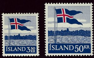 Iceland #313-314 Mint OG VF Value $10.50...Bid to win!!