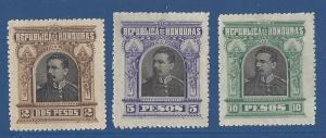 Honduras 1891 Scott 62-64 mng scv$6.25 less50%=$3.10 BIN