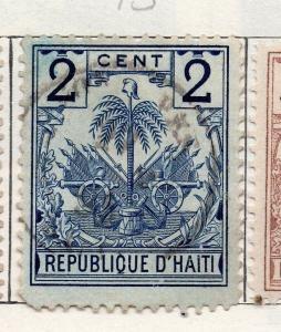 Haiti 1893 Early Issue Fine Used 2c. 119950
