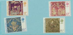 Great Britain Scott #798 To 801, Christmas Issue From 1976, Mint Never Hinged...