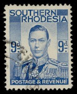 SOUTHERN RHODESIA GVI SG46, 9d pale blue, FINE USED.