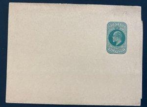 Mint England Wrapper Postal Stationery Half Penny Green #12 Original