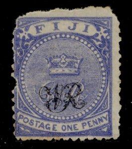 FIJI QV SG31a, 1d deep blue, UNUSED. Cat £35.