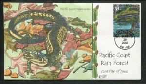 2000 Seattle Pacific Coast Rain Forest Giant Salamander Collins FDC