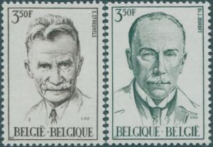 Belgium 1971 SG2242-2243 Celebrities set MNH