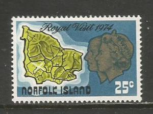 Norfolk Is.  #173  MLH  (1974)  c.v. $1.00
