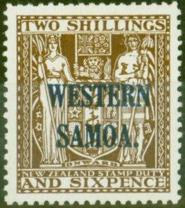 Western Samoa 1945 2s6d Dp Brown SG207 V.F MNH