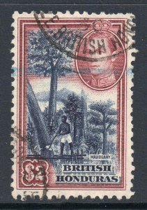 British Honduras 1938 KGVI $2 Mahogany SG 160 used