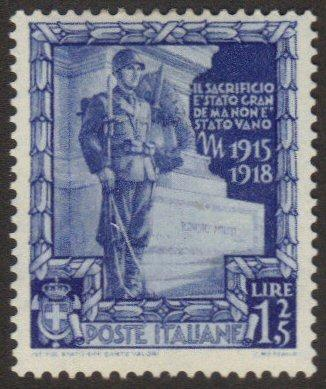 Italy #406 mint hinged - soldier