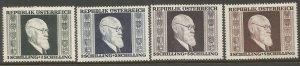 AUSTRIA  B167-B170  HINGED,  PRES. KARL RENNER