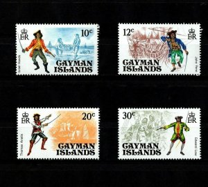 CAYMAN ISLANDS - 1975 - PIRATES - SHIPS - HANDS - FENN - LOW + MINT - MNH SET!