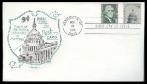#1591 Freedom to Assemble Artopages FDC
