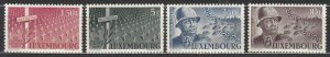 Luxembourg - 1947 American General Patton Sc#242/245 - MNH (7073)