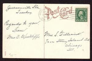 $Florida Machine Cancel Cover, Jacksonville 9/26/1915