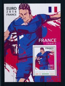 [81347] Niger  Football Soccer Euro 2016 France Sheet MNH