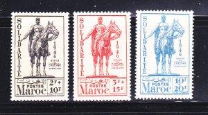 French Morocco B29-B31 Set MH Statue Of Marshal Lyautey