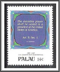 Palau #157 US Constitution Bicentennial MNH