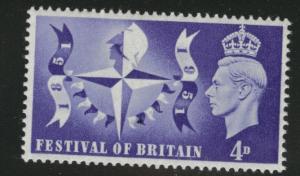 Great Britain Scott 291 MNH**  key 1951 Festival of Britain