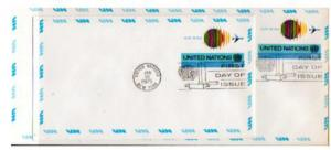 UN 2 Circa 1975 $.13 AIRMAIL POSTAL STATIONERY  FDC's