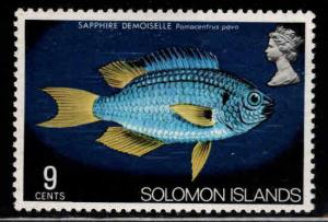Solomon Islands Scott 302 MH* British Obliterated from design