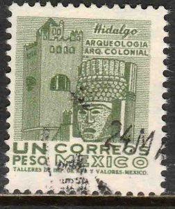 MEXICO 928, $1Peso 1950 Definitive 2nd Printing wmk 300. USED. F-VF. (1418)