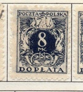 Poland 1921-1923 Early Issue Fine Mint Hinged 8m. 190784