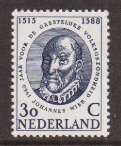 Netherlands  #384  MNH 1960   Mental Health  30c