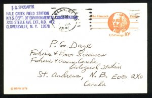 USA  postcard 10 cent b 1978  PD