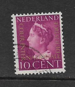 NETHERLANDS, O21, USED, QUEENN OVERPRINTED