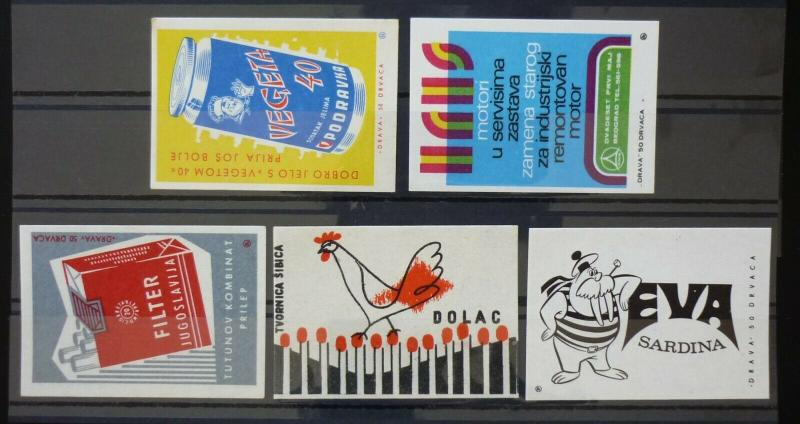 Yugoslavia Match Box Labels ! cigarettes cock fish vegeta N8